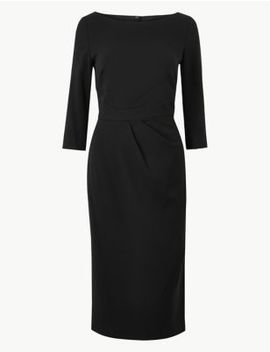 Seam Detail Bodycon Knee Length Dress by Marks & Spencer