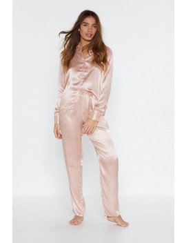 Pillow Talk Jaquard Shirt And Pants Pajama Set by Nasty Gal