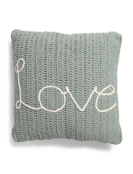 20x20 Textured Cotton Embroidered Pillow by Tj Maxx
