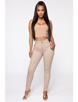 Casual Day Skinny Pants   Khaki by Fashion Nova