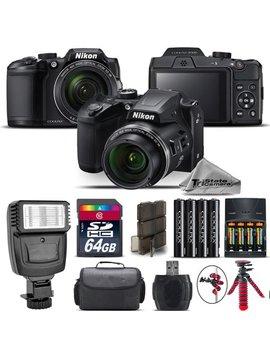 Nikon Coolpix B500 Camera 40x Optical Zoom + Flash + Case   64 Gb Kit Bundle by Nikon