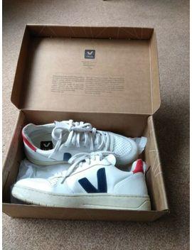 Veja V 10 Leather Trainers   Extra White/Nautico/<Wbr>Pekin   Size 38, Uk 5 by Veja