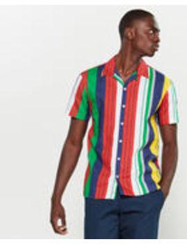 Cuba Multicolor Stripe Short Sleeve Sport Shirt by Kronstadt