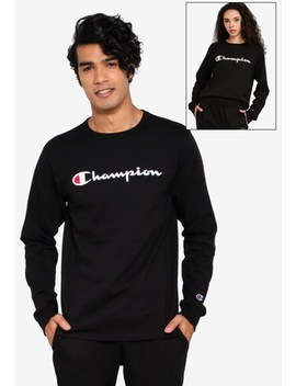 Us Range Heritage Ink Elevated Graphics Long Sleeve Tee by Champion