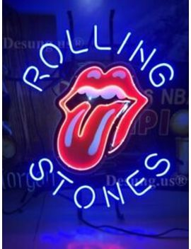 "New Rolling Stones Music Beer Bar Lamp Neon Light Sign 19"" Hd Vivid Printing by Ebay Seller"