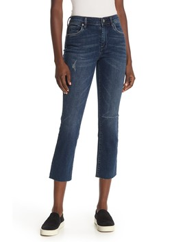 High Rise Cropped Straight Leg Jeans by Blanknyc Denim