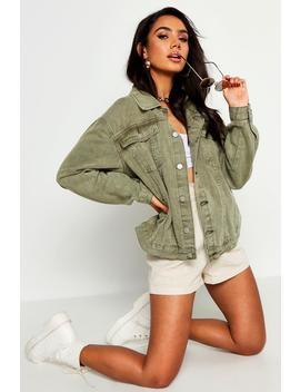 Super Oversize Rigid Denim Jacket by Boohoo