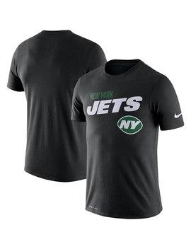 New York Jets Nike Sideline Line Of Scrimmage Legend Performance T Shirt   Black by Nike