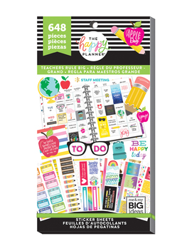 The Happy Planner Value Pack Stickers Big Teacher    The Happy Planner Value Pack Stickers Big Teacher by The Happy Planner