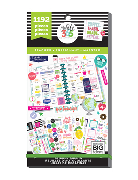 The Happy Planner Value Pack Stickers Teacher    The Happy Planner Value Pack Stickers Teacher by The Happy Planner