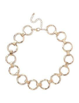 Hammered 22 Karat Gold Plated Necklace by Kenneth Jay Lane