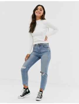 Pull&Amp;Bear Turtleneck Sweater White by Pull&Bear