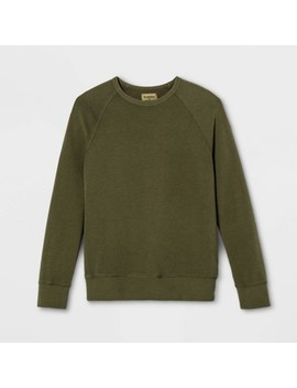 Men's Regular Fit French Terry Crew Neck Sweatshirt   Goodfellow &Amp; Co by Goodfellow & Co