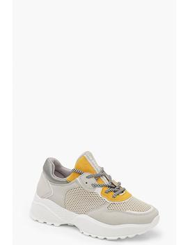 Contrast Colour Chunky Trainers by Boohoo