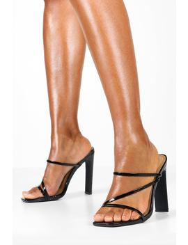 Croc Square Toe Strappy Mule by Boohoo
