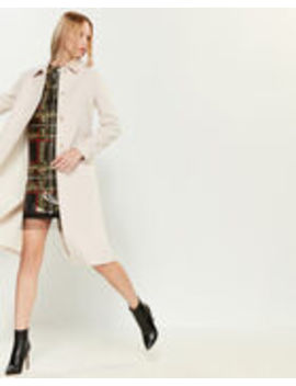 Beige Wool Car Coat by Blugirl Blumarine