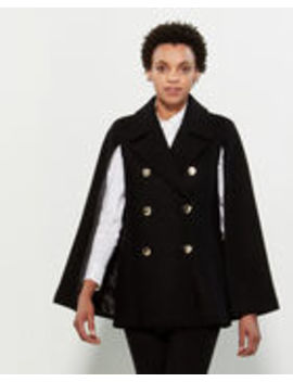 Double Breasted Cape Coat by Calvin Klein