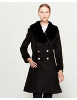 Faux Fur Collar Double Breasted Coat by Lauren Ralph Lauren