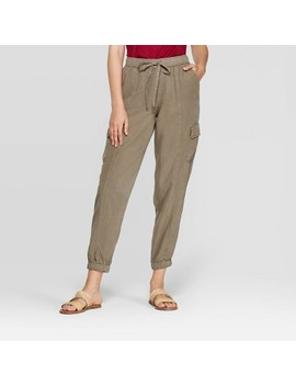 Women's Mid Rise Ankle Length Cargo Pants   Knox Rose Olive by Rise Ankle Length Cargo Pants