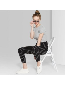 Women's Striped High Rise Skinny Pants   Wild Fable Black by Rise Skinny Pants