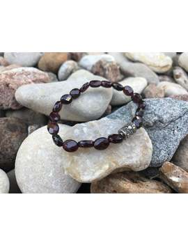 The Stone Of Love Mala | Faceted Garnet &Amp;Amp; Sterling Silver Beaded Bracelet | High Quality | Stacking | Meditation | January Birthstone by Etsy