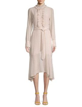Palo Silk Dotted Midi Dress by Equipment