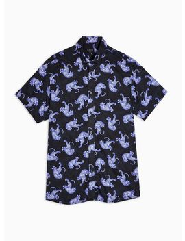 Selected Homme Blue Tiger Print Shirt by Topman