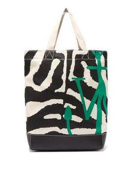 Zebra And Leopard Print Canvas Tote Bag by Jw Anderson