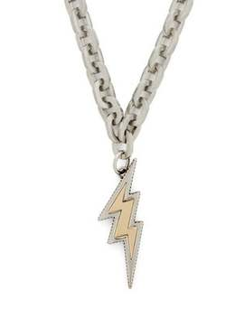 Lightning Bolt Chain Necklace by Prada