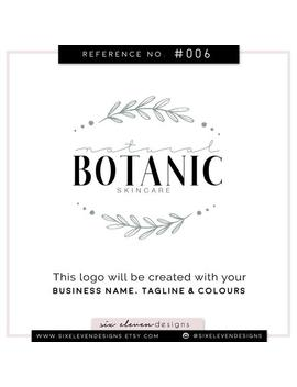 Premade Logo Design, Premade Logo, Natural Logo, Leaves Logo, Leaf Logo, Organic Logo, Soap Logo, Skincare Branding, Herbal, Nature by Etsy