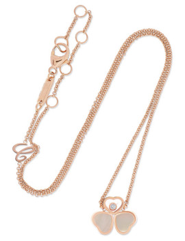 Happy Diamonds 18 Karat Rose Gold, Mother Of Pearl And Diamond Necklace by Chopard