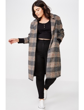 Curve Mid Length Coat by Cotton On