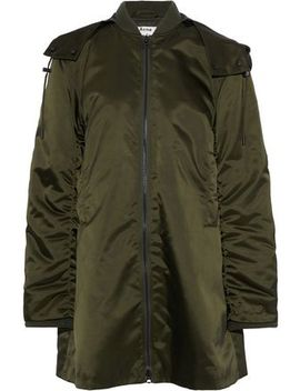 Lexi Ruched Satin Hooded Bomber Jacket by Acne Studios
