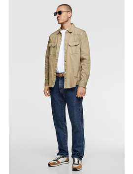 Ripped Denim Overshirt Collection All Time Man Cornershops by Zara