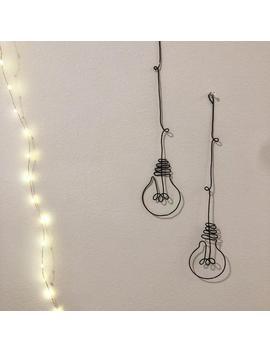 Custom Wire Lightbulb Wall Hanging Decor/Decoration/Home/Living Room/Decor/Handmade by Etsy