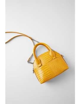 Animal Embossed Mini Bowling Bag Bagswoman Shoes &Amp; Bags by Zara