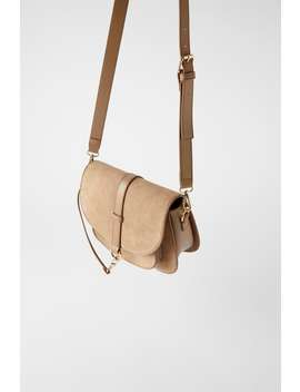 Suede Oval Crossbody Bag Bagswoman Shoes &Amp; Bags by Zara