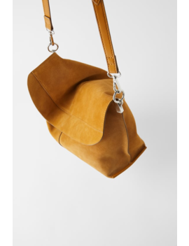 Split Suede Crossbody Bag  Womanshoes &Amp;Amp; Bags New In by Zara