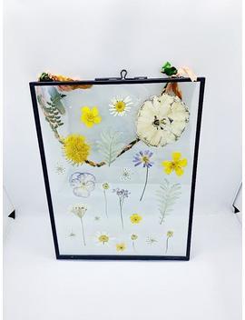 Pressed Flower Frame, Botanical Wall Hanging, Pressed Flower Hanging Frame, Botanical Art by Etsy