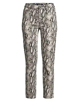 Hoxton Slim Fit Raw Hem Python Jeans by Paige Jeans