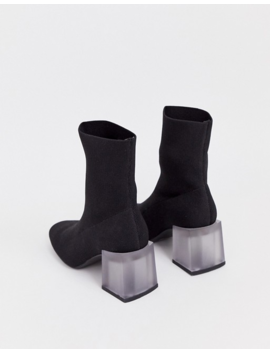Asos Design Reality Flyknit Ankle Boots In Black by Asos Design