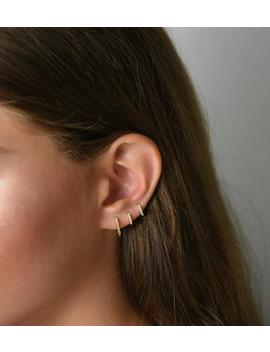 Small Hoop Earrings, Huggie Hoops Earrings, Cz Hoops, Hoop Earrings, Dainty Hoops, Tiny Hoops, Thin Hoops, Minimalist Earrings, Small Hoops by Etsy