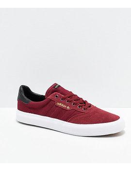 Adidas 3 Mc Burgundy, White &Amp;Amp; Black Shoes by Adidas