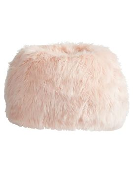 Himalayan Faux Fur Blush Beanbag Slipcover by P Bteen