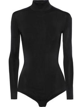Kaari Stretch Knit Turtleneck Bodysuit by Iris & Ink