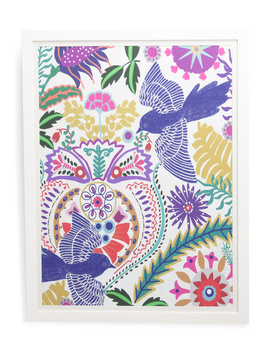 24x32 Bohemian Birds Wall Art by Tj Maxx