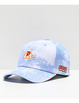 Primitive X Dragon Ball Z Dirty P Blue Tie Dye Strapback Hat by Primitive