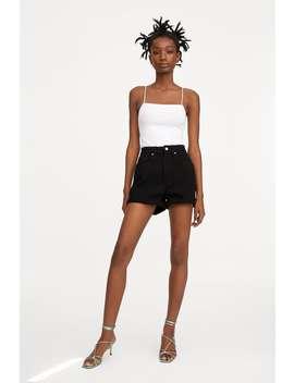 Authentic Denim Mom Fit Bermuda Shorts Shortssale Woman by Zara