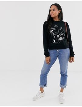 Asos Design Sweatshirt With Solar System Print by Asos Design