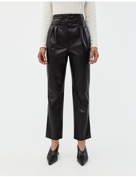 Mitsu Vegan Leather Pant In Black by Nanushka
